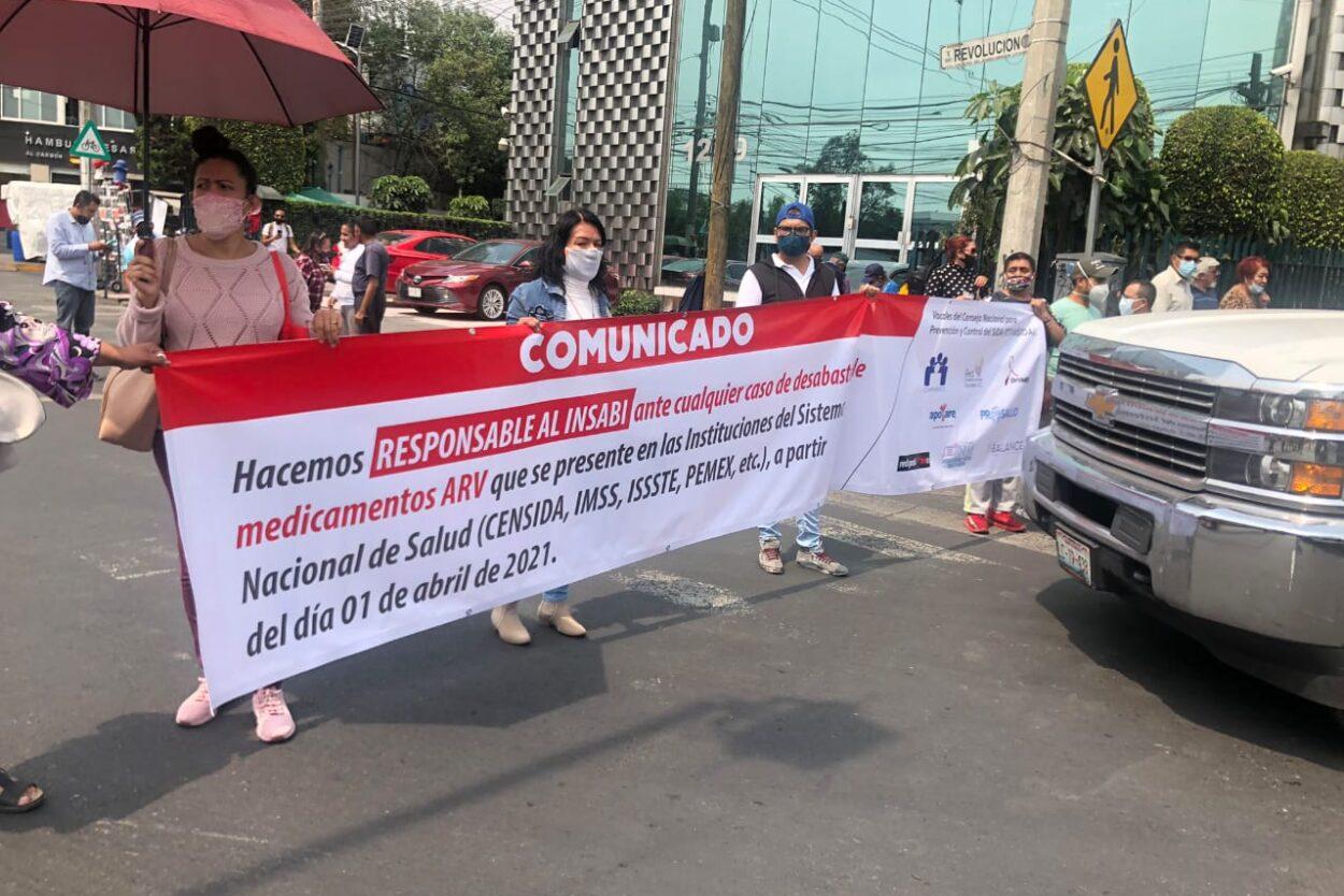 Protestas por falta de medicamentos para atender el VIH