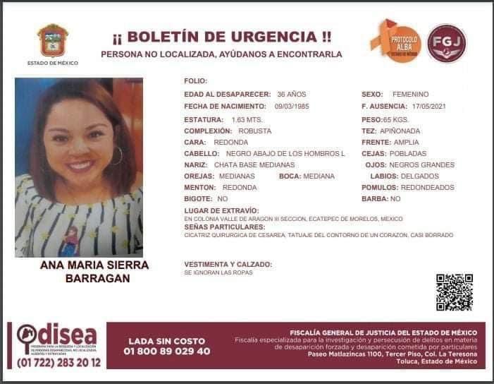 A un mes de la desaparición de la maestra Ana María Sierra y su hija Estrella Isabel de 8 años