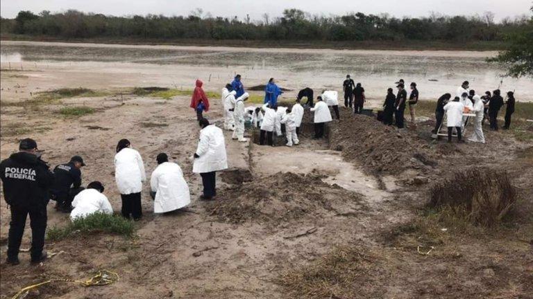 Hallazgo del campo de exterminio de personas en La Bartolina, cerca de Matamoros, Tamaulipas